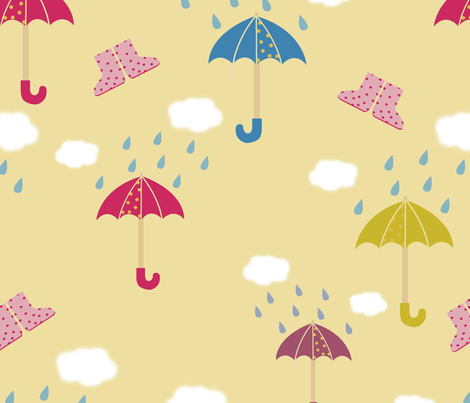 rainy days fabric by blingmoon on Spoonflower - custom fabric