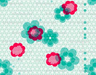 shibori large floral j