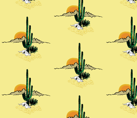 Under the desert sun fabric by jmckinniss on Spoonflower - custom fabric