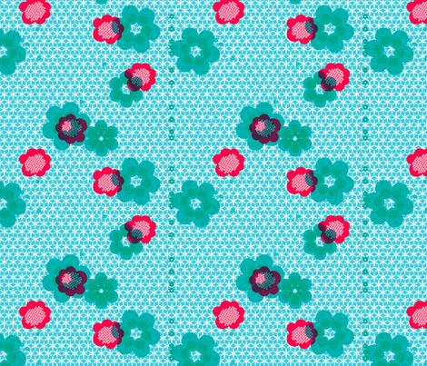 shibori large floral teal j fabric by fiona_mcdonald_juicyapple on Spoonflower - custom fabric