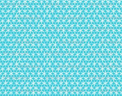 shibori flower circles small teal j