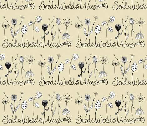 seeds_weeds fabric by peppermintpatty on Spoonflower - custom fabric