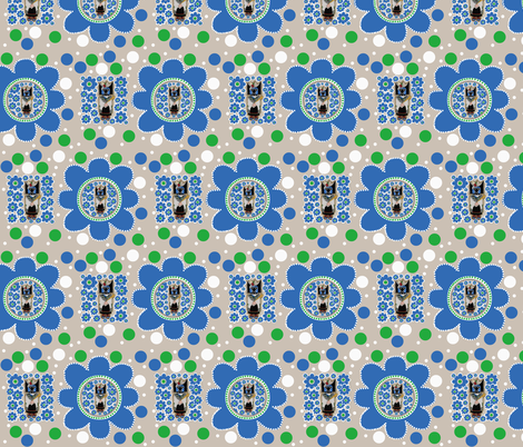 Crow Mother flower fabric by paragonstudios on Spoonflower - custom fabric