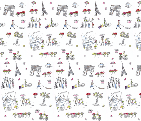 April in Paris fabric by nsta on Spoonflower - custom fabric