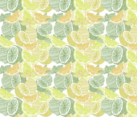 Make lemonade fabric by valentinaharper on Spoonflower - custom fabric