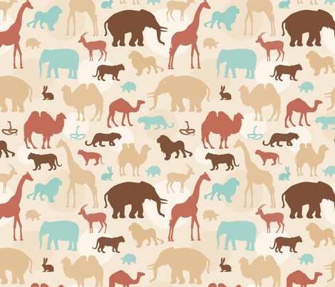 Desert Parade fabric by sew-me-a-garden on Spoonflower - custom fabric