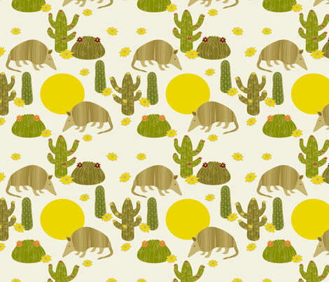 armadillitos fabric by deesignor on Spoonflower - custom fabric