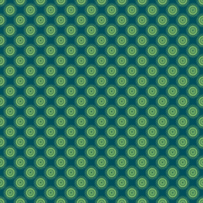 Doily (blue/green)