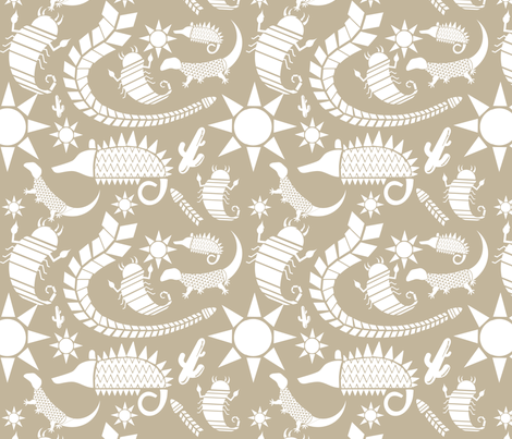 Sandy Desert fabric by meganc0hen on Spoonflower - custom fabric