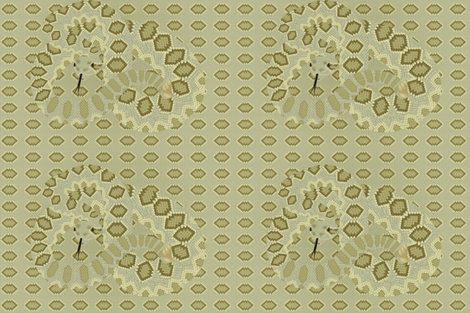 Mojave Green - Desert Snake fabric by ailau on Spoonflower - custom fabric