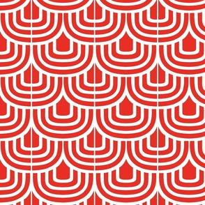 Red Retro Curves