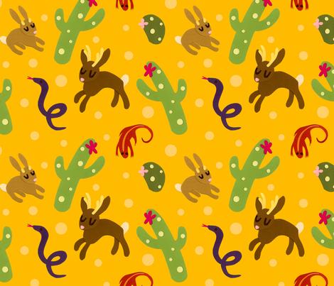 Jackalopes love the Sun fabric by jordan_elise on Spoonflower - custom fabric