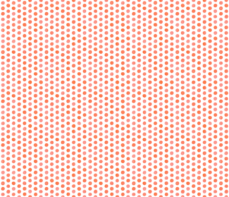 Small Watercolor Dots: Coral fabric by nadiahassan on Spoonflower - custom fabric