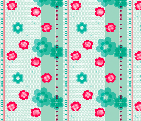 shibori large floral with stripe j fabric by fiona_mcdonald_juicyapple on Spoonflower - custom fabric