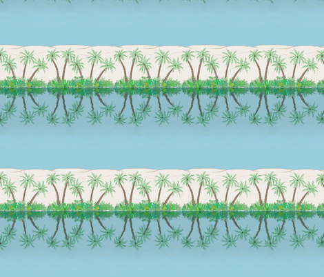desert_oasis_stripe fabric by victorialasher on Spoonflower - custom fabric