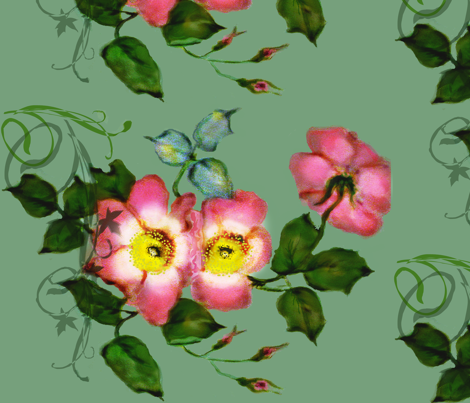 wild roses fabric by paragonstudios on Spoonflower - custom fabric