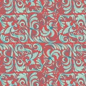 swirly birds broome red