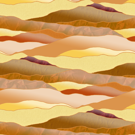 After Dawn in the Desert - Leadlight Landscape fabric by rhondadesigns on Spoonflower - custom fabric
