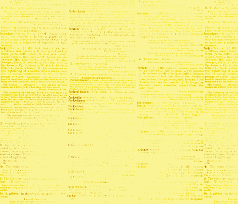 yellow dictionary fabric by amyteets on Spoonflower - custom fabric