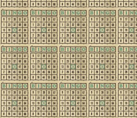 Vintage Bingo fabric by amyteets on Spoonflower - custom fabric
