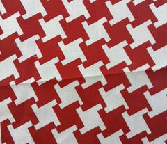 Red Houndstooth