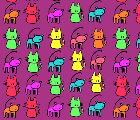 Here kitty kitty fabric by brandiz2206 on Spoonflower - custom fabric
