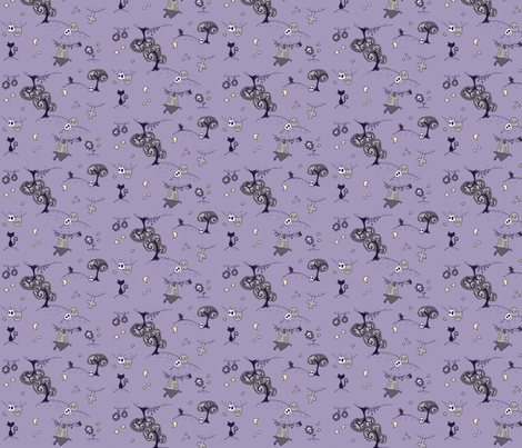 Creepies fabric by kukubee on Spoonflower - custom fabric