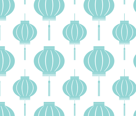 Lantern (Koi Pond) fabric by blackpomegranate on Spoonflower - custom fabric