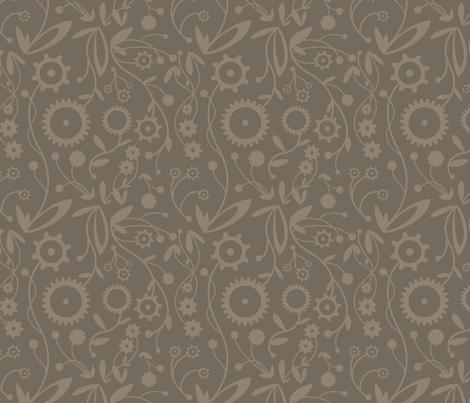 Gear Garden fabric by jackieatweelife on Spoonflower - custom fabric