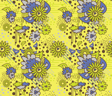 Floral Pow at Noon fabric by dolphinandcondor on Spoonflower - custom fabric