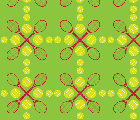 Green Tennis fabric by audreyclayton on Spoonflower - custom fabric