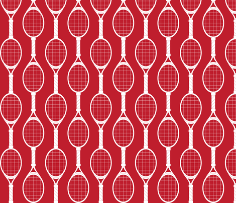 Red Rackets fabric by audreyclayton on Spoonflower - custom fabric