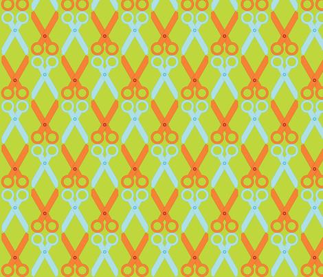 Orange/Blue Scissors fabric by audreyclayton on Spoonflower - custom fabric