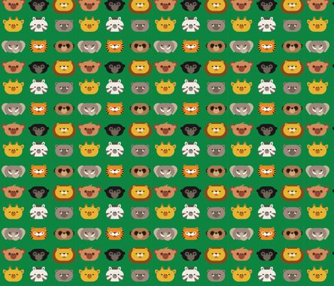 jungle friends fabric by dennisthebadger on Spoonflower - custom fabric
