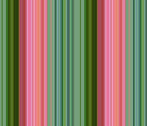 Stripe wild roses fabric by paragonstudios on Spoonflower - custom fabric