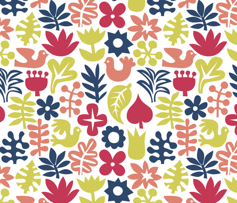 jungle birds fabric by dennisthebadger on Spoonflower - custom fabric