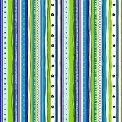 Potpourri Stripe in Turquoise Colorway by Ellen Medlock Studio