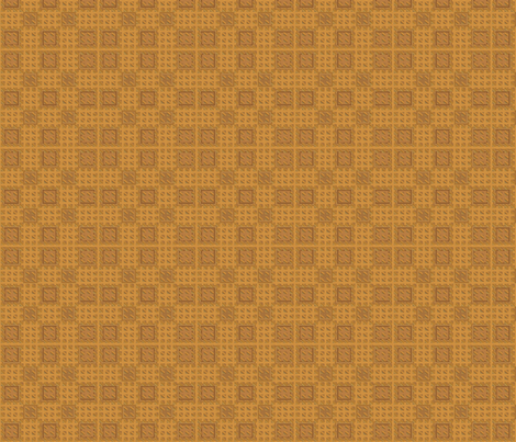 Oak Tiles in Gold © 2010 Gingezel Inc. fabric by gingezel on Spoonflower - custom fabric