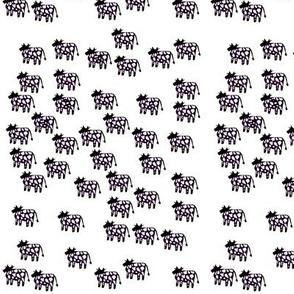 Cow Herd in B&W