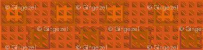 Oak Tiles in Orange © 2010 Gingezel™ Inc.