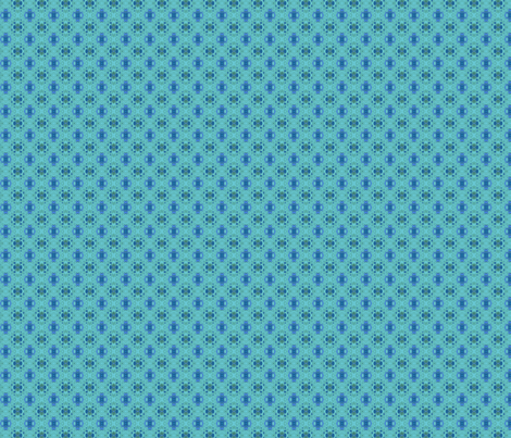Ocean Villa Lagoon Print 1  in small © 2010 Gingezel™ Inc. fabric by gingezel on Spoonflower - custom fabric