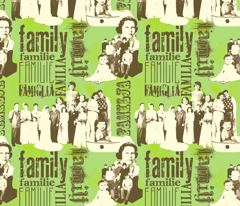 FamilyForever-Green fabric by tammikins on Spoonflower - custom fabric
