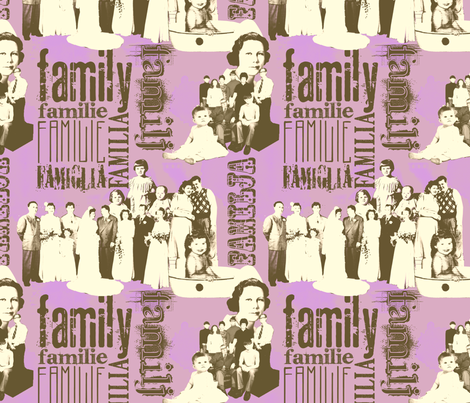 FamilyForever-Purple fabric by tammikins on Spoonflower - custom fabric