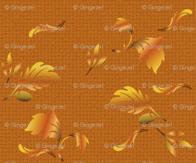 Hardwood Leaves in orange © 2010 Gingezel Inc.