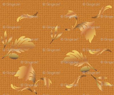 Hardwood Leaves in gold © 2011 Gingezel Inc.