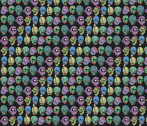 Braaaaaains fabric by weare_electric on Spoonflower - custom fabric