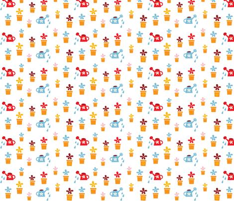 Happy Home Flowers fabric by bora on Spoonflower - custom fabric