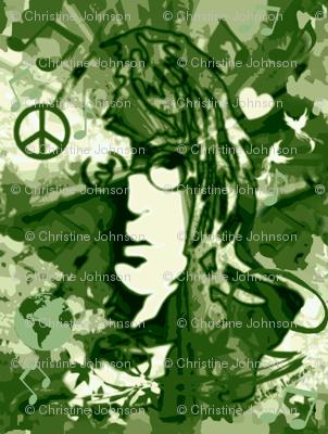 Camo Lt. John World Peace & Love