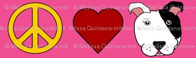 Pink Peace, Love, Pit Bulls