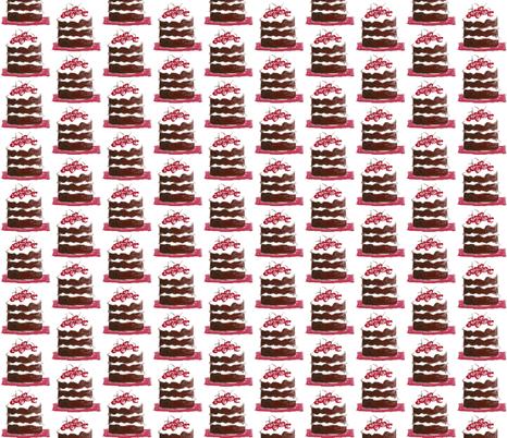 chocolate cake fabric by bridgetbeth on Spoonflower - custom fabric